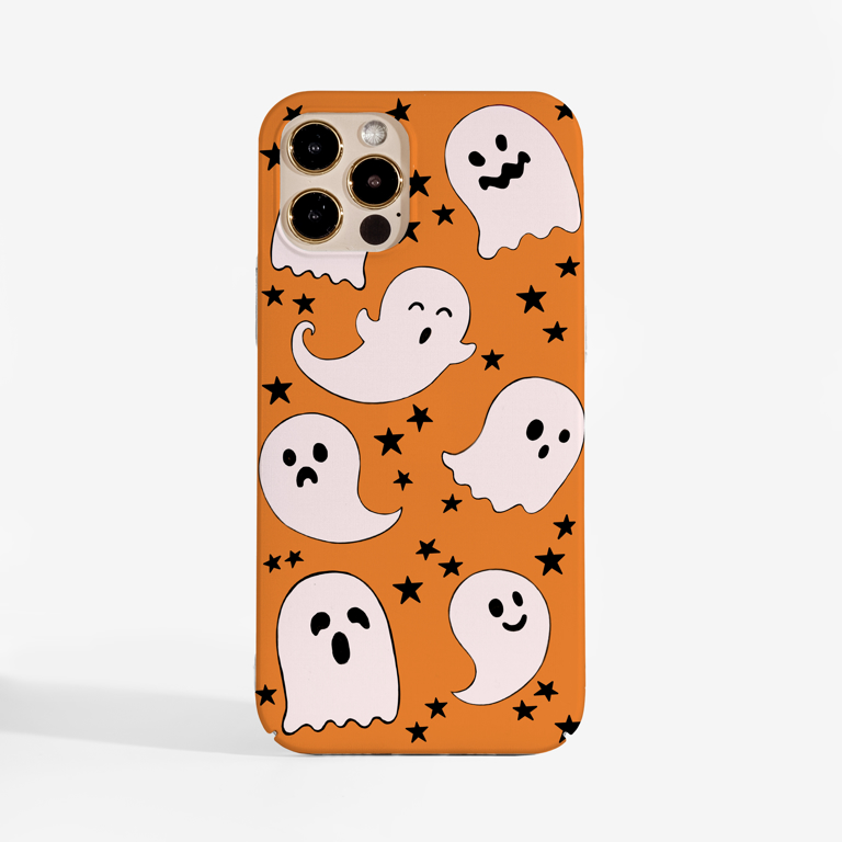 Cute Halloween Ghosts Phone Case by Dessi Designs.