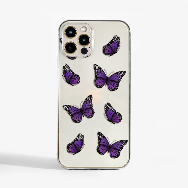 Purple Butterfly Phone Case | Available at www.dessi-designs.com