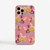 Pink Florals Slimline Phone case Front | Available at www.dessi-designs.com