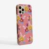 Pink Florals Slimline Phone case Side | Available at www.dessi-designs.com