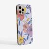 Purple Florals Slimline Phone Case Side | Available at www.dessi-designs.com
