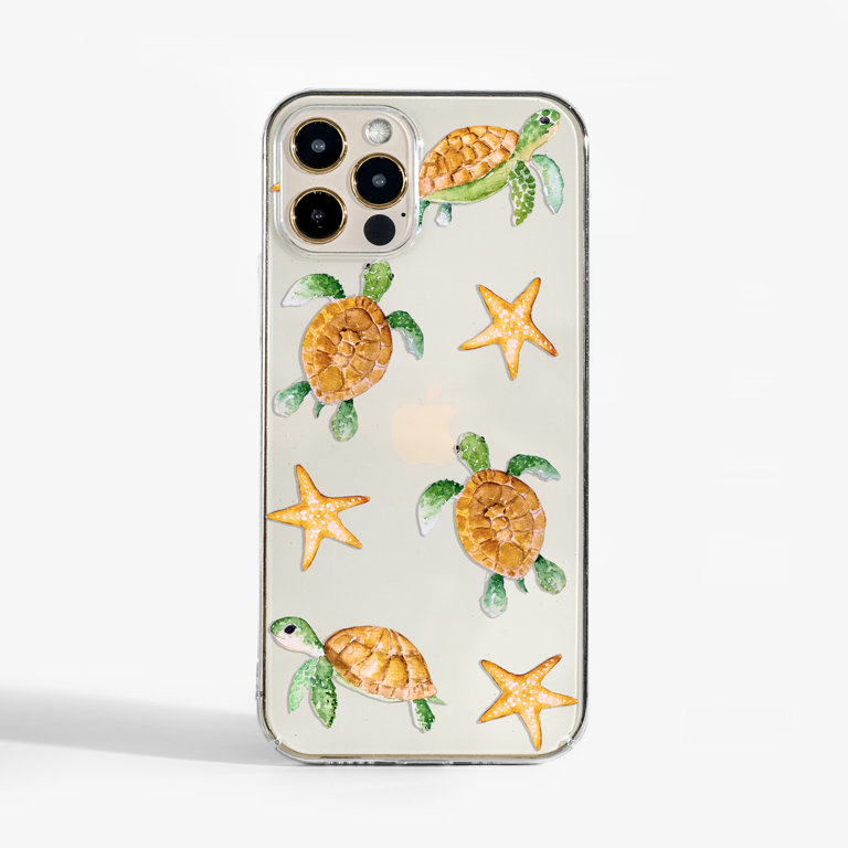Clear Sea Turtles Phone Case | Available at www.dessi-designs.com