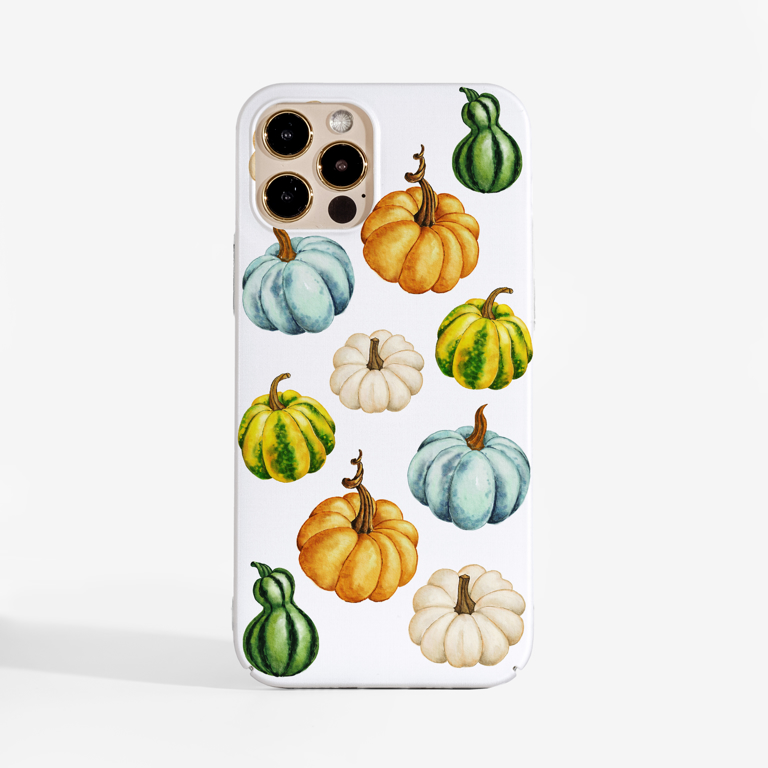 Watercolour pumpkins phone cover - Available at www.dessi-designs.com