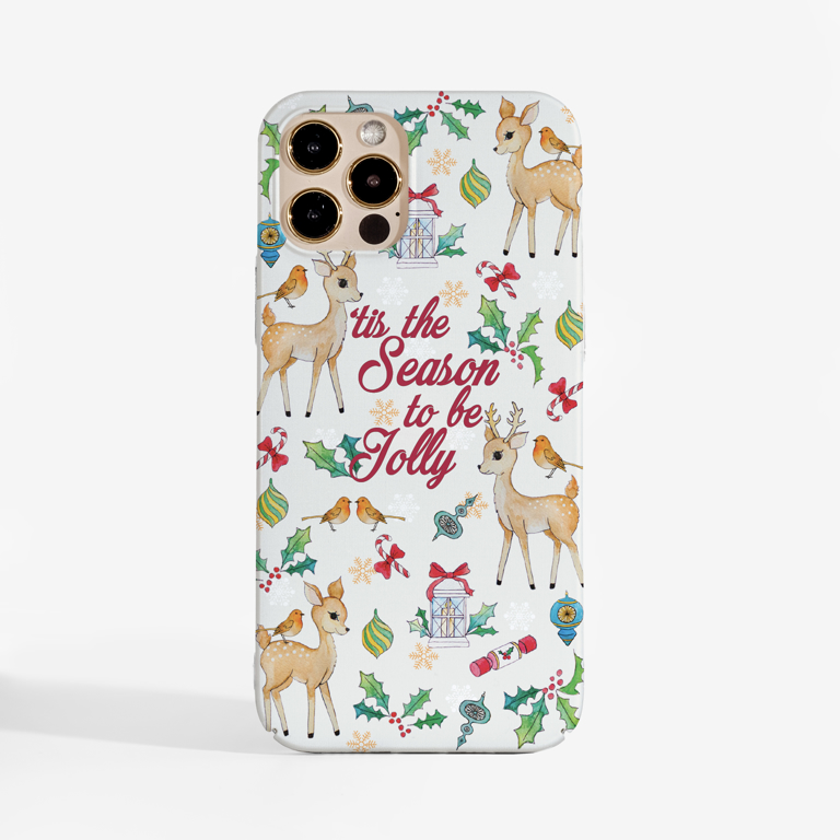 Tis The Season Slimline Christmas Phone Case Front | Available at Dessi-Designs.com