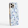Blue Florals Phone Case Side | Available at www.dessi-designs.com