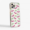 Cherries Slim Plastic Phone Case Side - www.dessi-designs.com