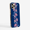 Blossoms in Pink and Blue Phone Case Side