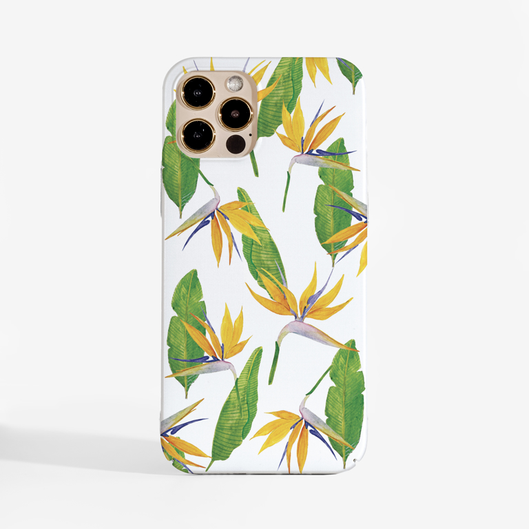 Paradise Flowers Phone Case Front | Available at www.dessi-designs.com