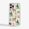 Clear Phone Case with Forest pattern | Available at www.Dessi-Designs.com
