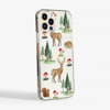 Clear Phone Case with Forest pattern Side view | Available at www.Dessi-Designs.com