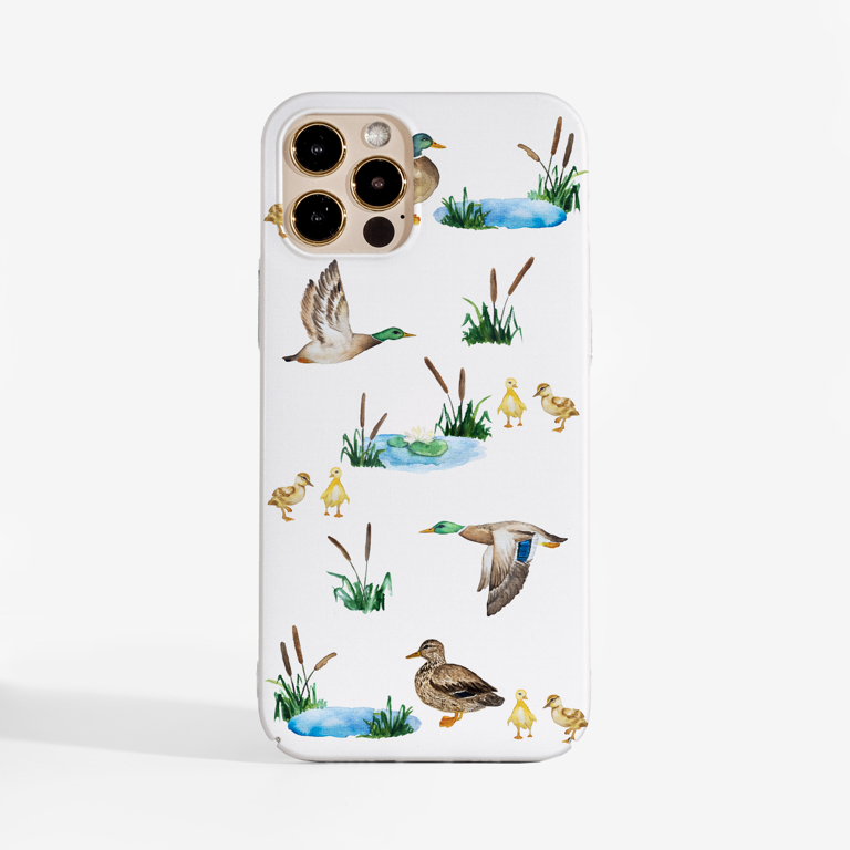 Ducks Phone Case with white background | Available at www.Dessi-Designs.com