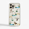Clear Ducks Slimline Phone Case Front | Available at Dessi-Designs.com