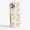 Peaches Clear Plastic Phone Case Side - www.dessi-designs.com