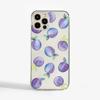 Plums Clear Plastic Phone Case Front - www.dessi-designs.com