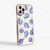 Plums Clear Plastic Phone Case Side - www.dessi-designs.com