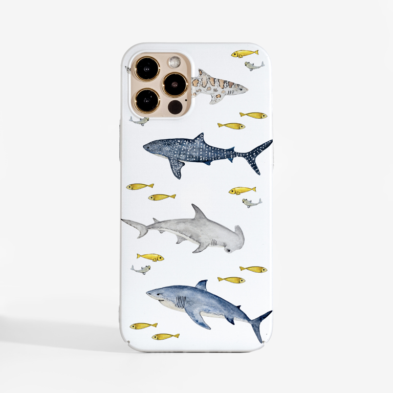 Sharks  Phone Case. Available at www.dessi-designs.com