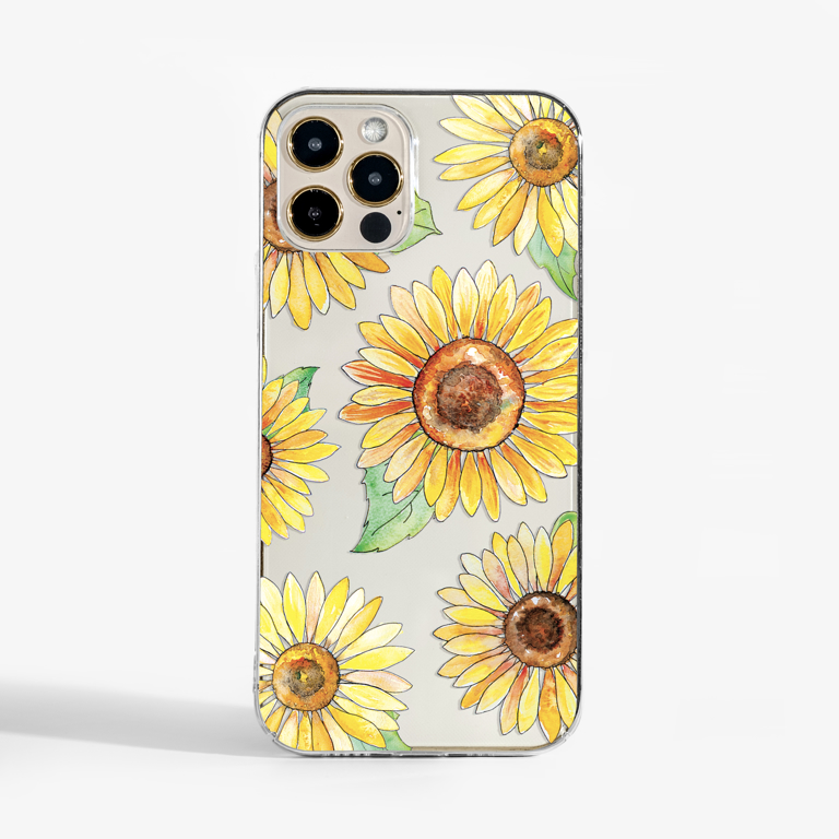 Sunflowers Clear Phone Case | Available at www.dessi-designs.com