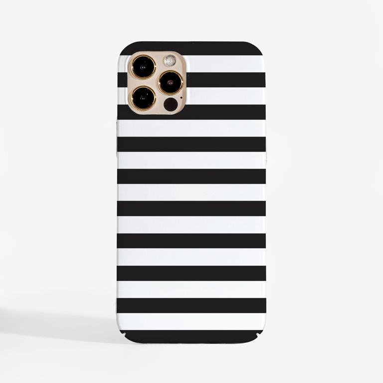 Black and White Stripes  Case Front | Available at Dessi-Designs.com