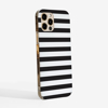 Black and White Stripes  Case Side | Available at Dessi-Designs.com