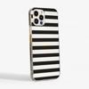 Black Stripes Clear Case Side