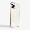 White Stars Clear Bumper Phone Case Side | Available at Dessi-Designs.com