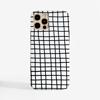 Black Cross Stripes Clear Slimline Phone Case Front | Available at Dessi-Designs.com