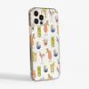 Cocktails Clear Slimline Phone Case Side | Available at Dessi-Designs.com