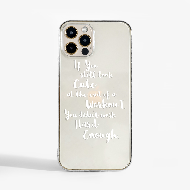 Not Enough Clear Slimline Phone Cases Front | Available at Dessi-Designs.com