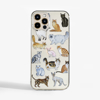 Cats White Phone Case Front | Available at Dessi-Designs.com