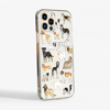 Dogs Clear iPhone Case Side | Available at Dessi-Designs.com