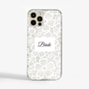 Clear Floral White Lace Phone Case Front | Available at Dessi-Designs.com