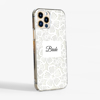 Clear Floral White Lace Phone Case Side | Available at Dessi-Designs.com