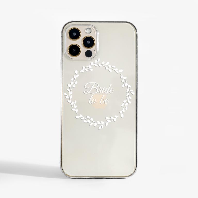 Clear White Bridal Floral Slimline Case Front | Available at Dessi-Designs.com