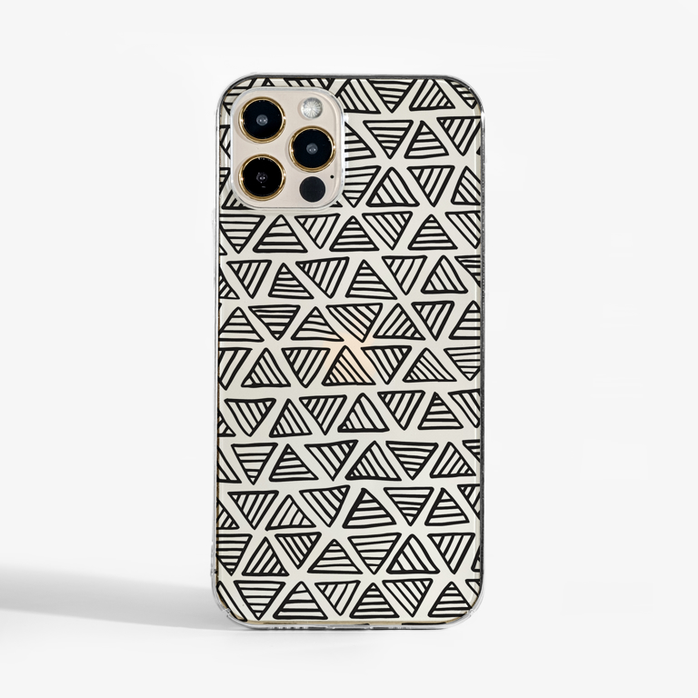 Clear Triangles Phone Case Available at www.Dessi-Designs.com