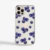 Blueberries Transparent Phone Case | Available at www.dessi-designs.com