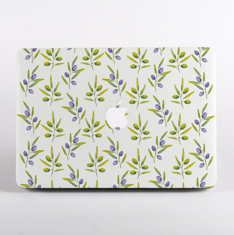Olive Pattern MacBook Case | Available at www.dessi-designs.com