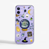 Clear Halloween Phone Case Purple. Available at www.dessi-designs.com
