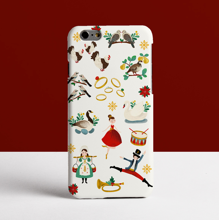 12 Days of Christmas Phone Case. Available at www.dessi-designs.com