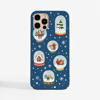 Christmas Snow Globes Phone Case. Available at www.dessi-designs.com