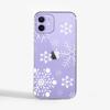 Large Snowflakes Slimline Phone Case Purple Phone    Available at Dessi-Designs.com
