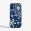 Large Snowflakes Slimline Phone Case Blue Phone    Available at Dessi-Designs.com
