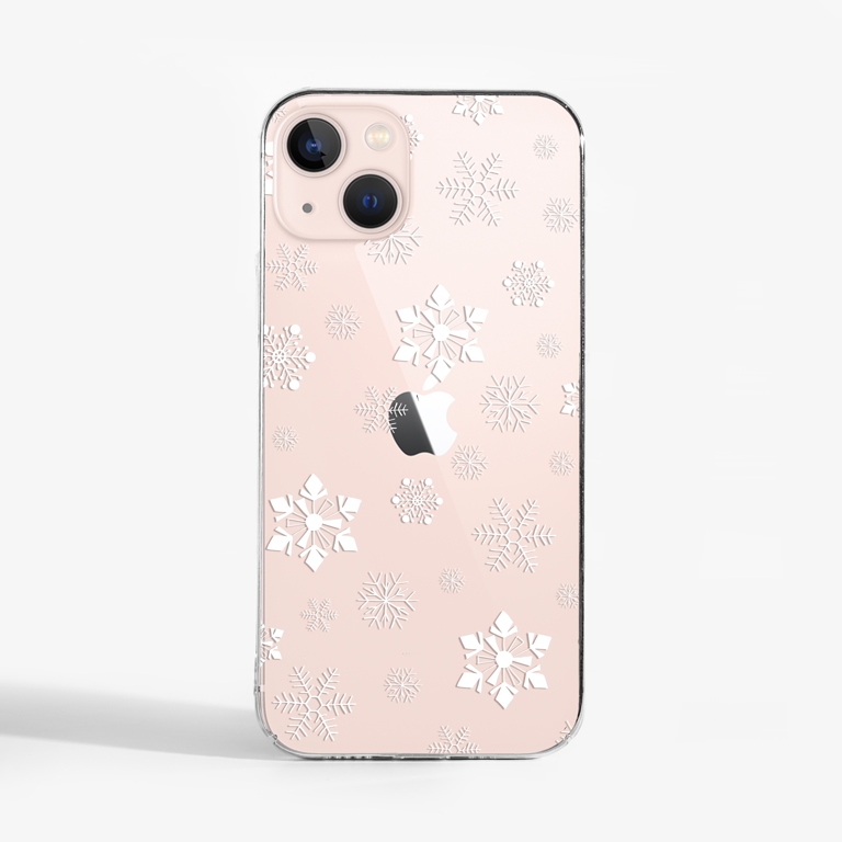 Small Snowflakes Slimline Phone Case pink phone | Available at Dessi-Designs.com