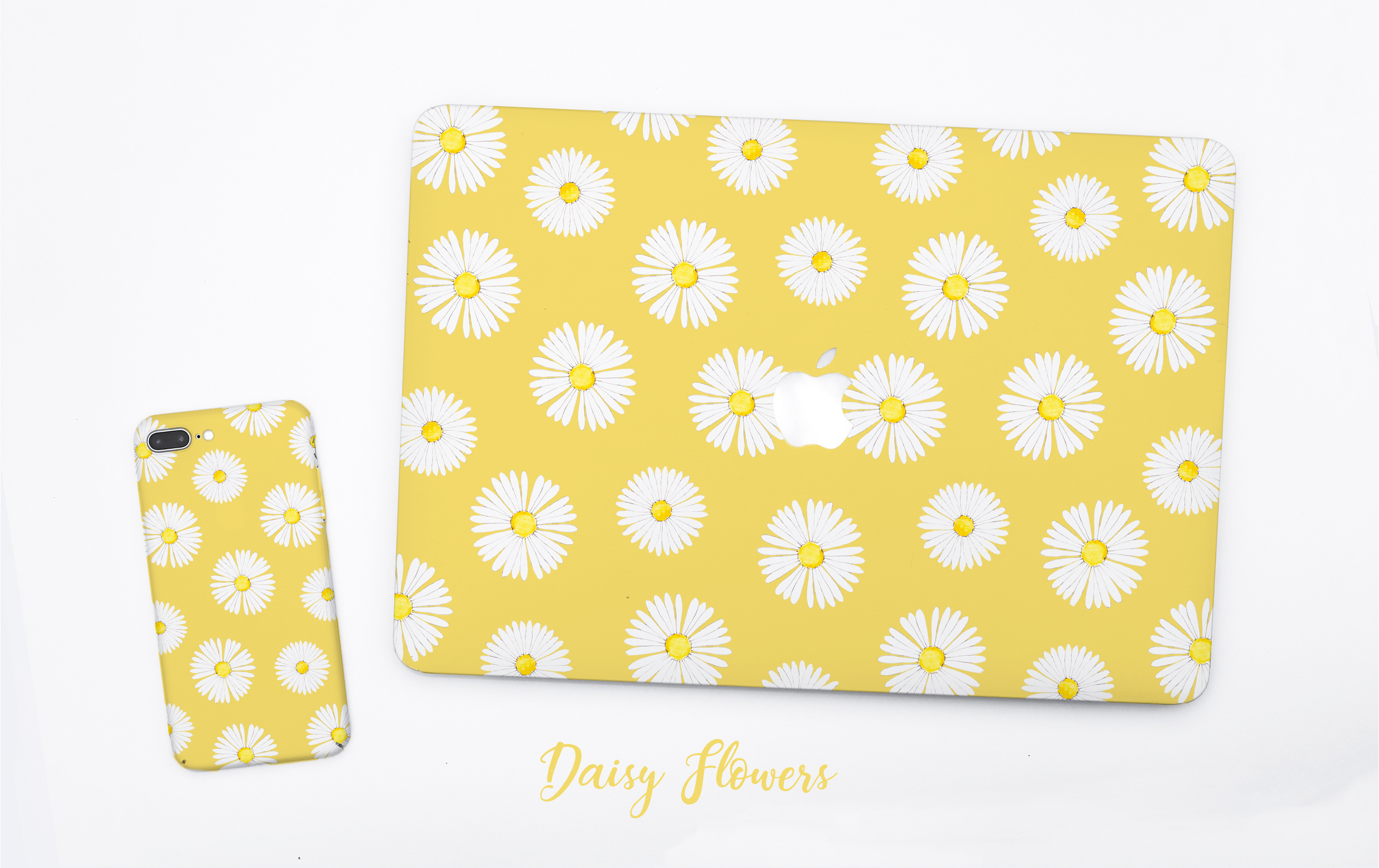 Daisy flowers MacBook  and phone case
